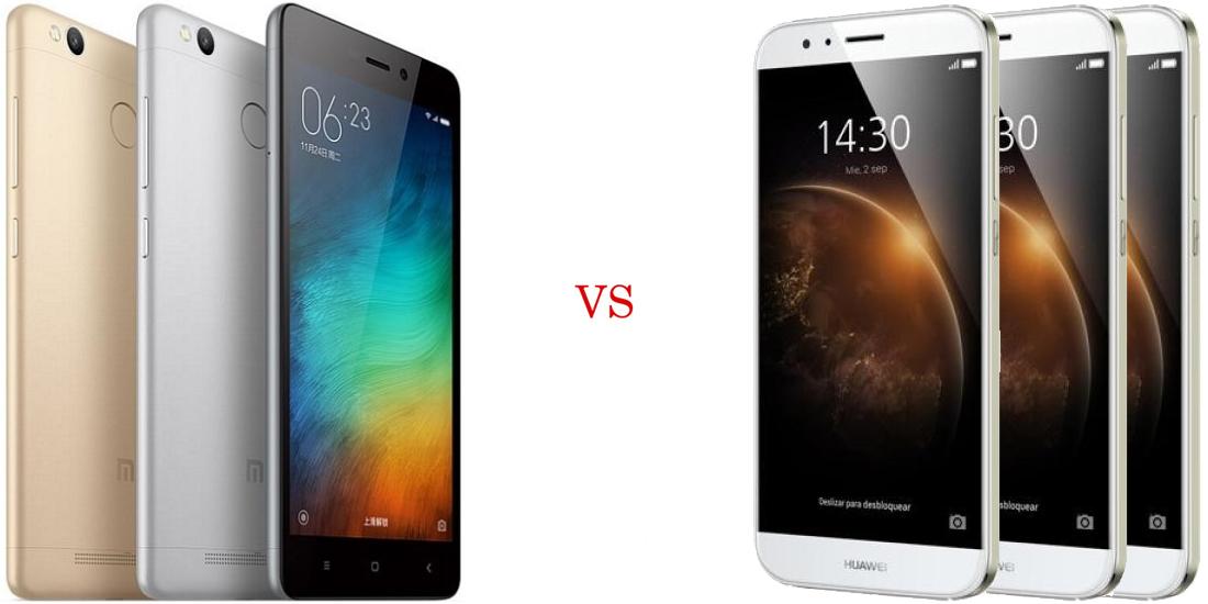 Xiaomi Redmi 3 Pro vs Huawei G8 5