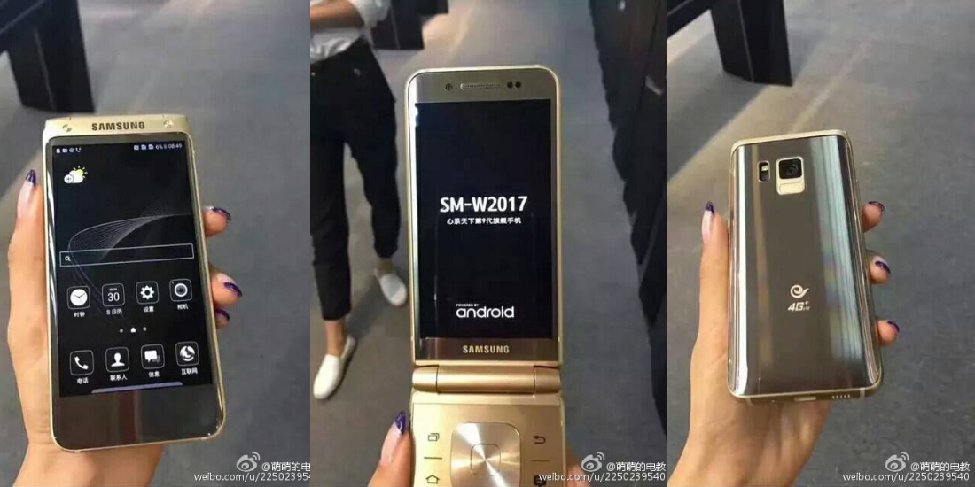 Samsung Veyron SM-W2017, smartphone high-end com tampa frontal 1