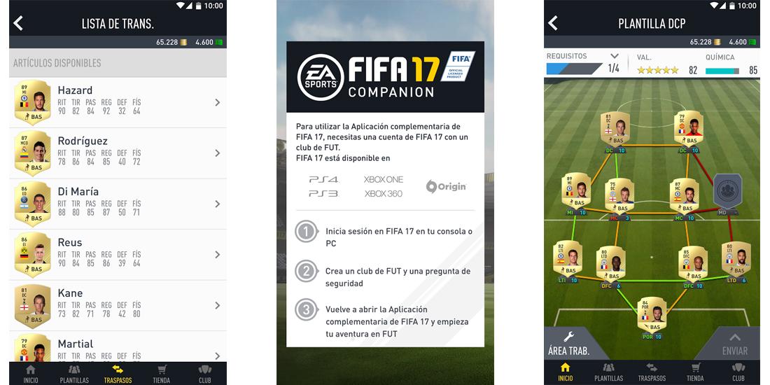Fifa 17 Companion disponible para iOS, Android y Windows 1