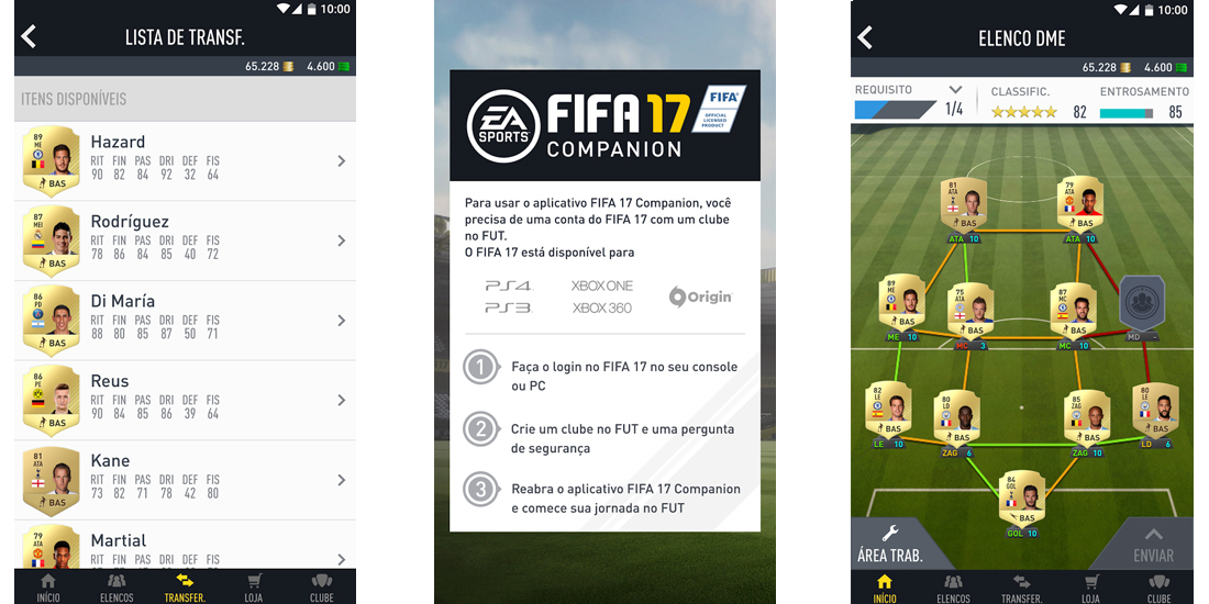 FIFA 17 Companion disponivel para iOS, Android e Windows Phone 1