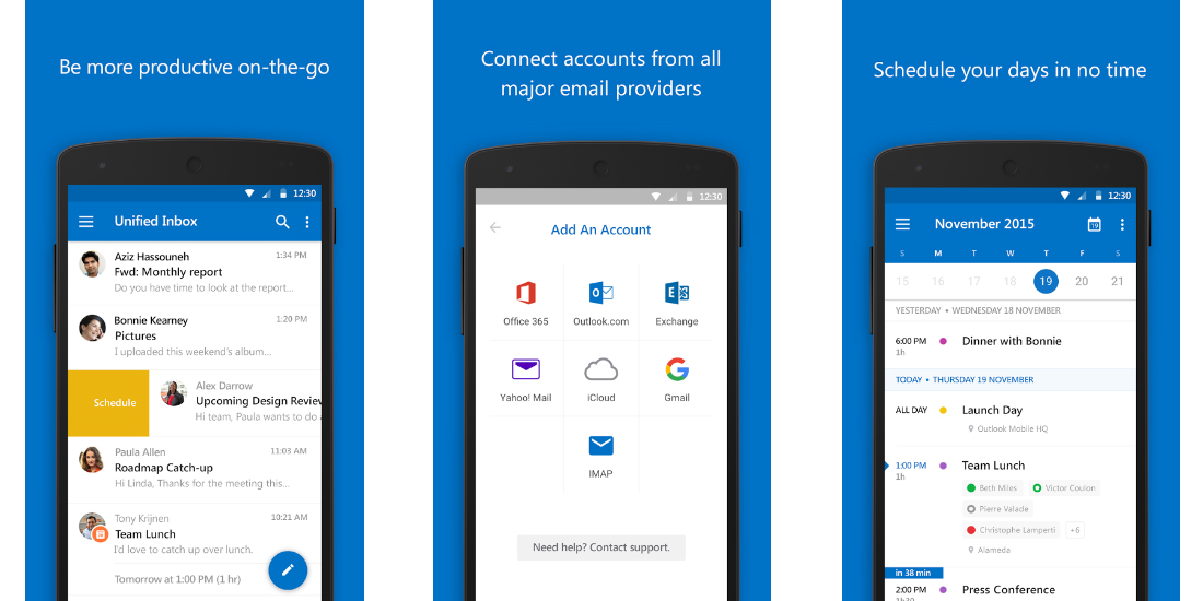 Outlook for iOS and Android as addition for Office 365 1