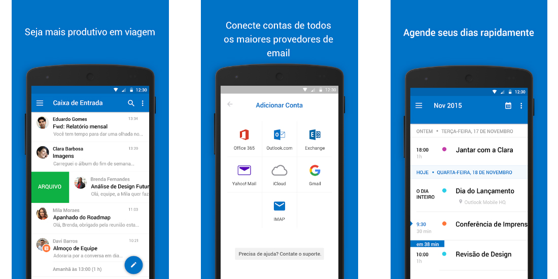 Outlook para iOS e Android como complemento para o Office 365 1