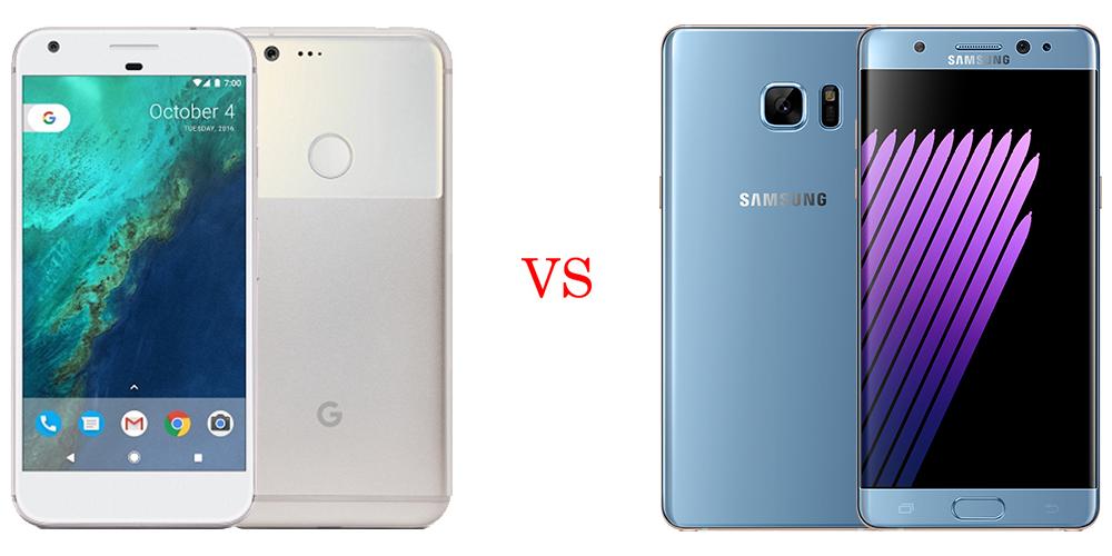 Google Pixel XL versus Samsung Galaxy Note 7 1