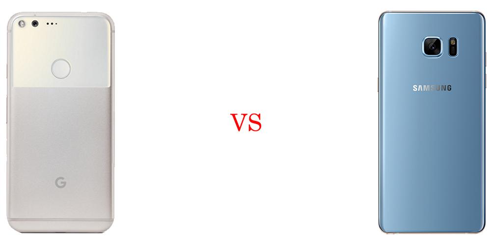 Google Pixel XL versus Samsung Galaxy Note 7 3