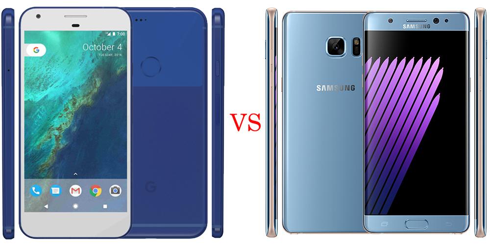 Google Pixel XL versus Samsung Galaxy Note 7 6