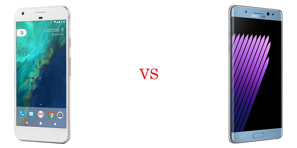 Google Pixel XL versus Samsung Galaxy Note7 4