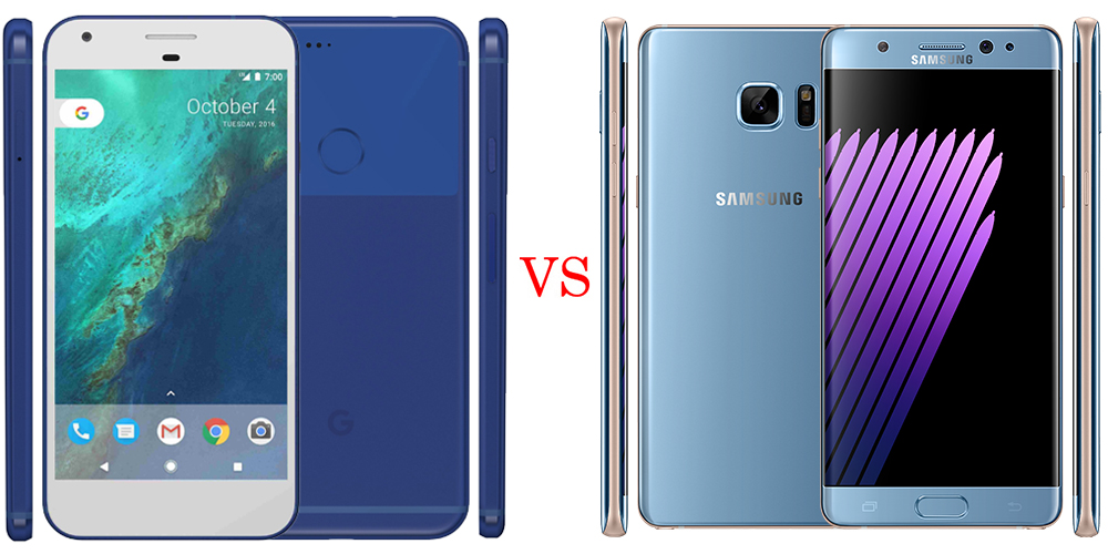 Google Pixel XL versus Samsung Galaxy Note7 6