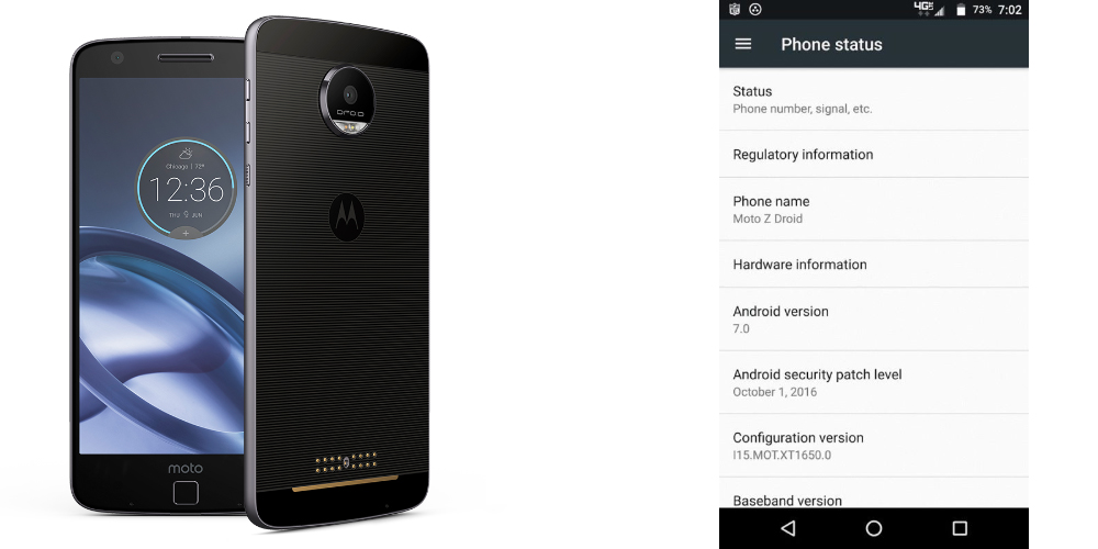 Lenovo tests Android Nougat and prepares update for Moto Z 1