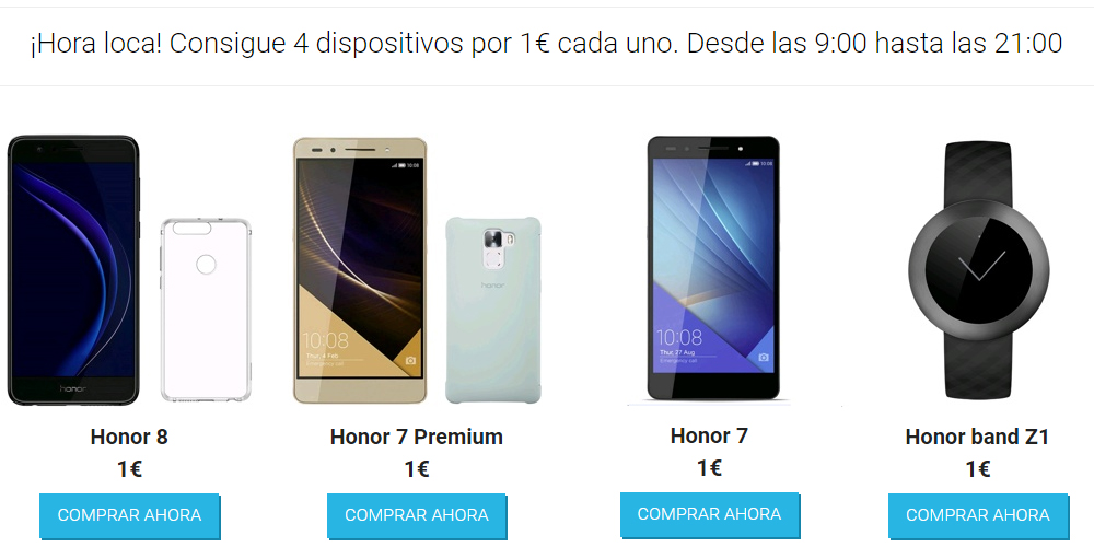 Smartphones Honor por 1 euro en vMall para celebrar Single's Day 1