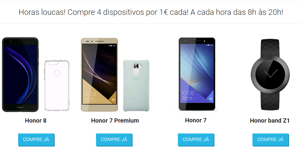 Smartphones Honor por 1 euro no vMall para celebrar o Singles Day 1