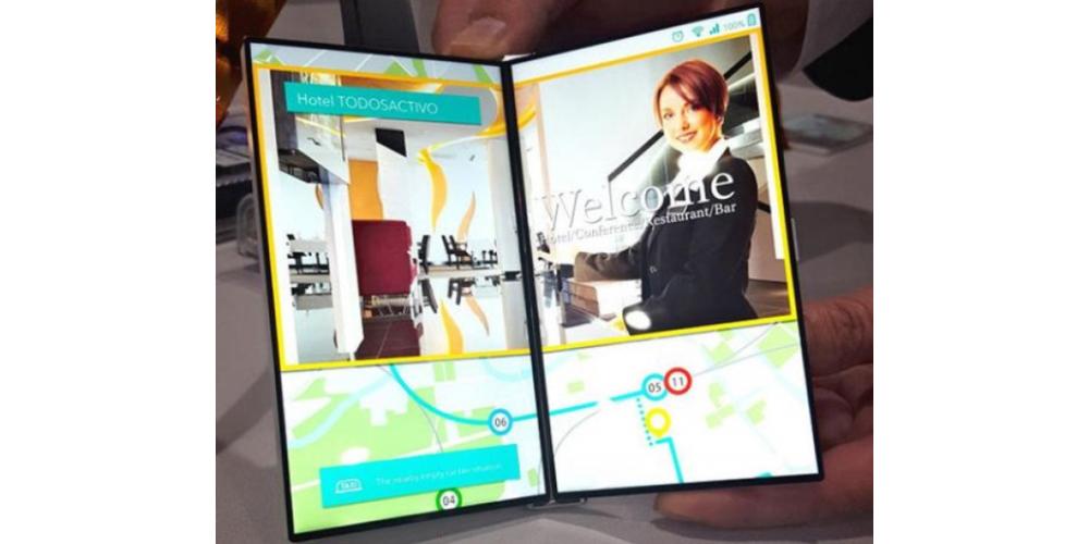 JDI apresenta uma tela dual dobravel para smartphones 1