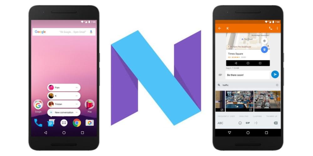 Android 7.1.1 Nougat Developer Preview 2 disponible en los Nexus 1