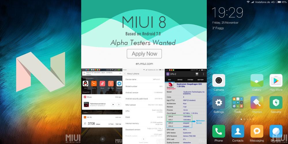 Xiaomi atualiza Mi 5, Mi Max, Redmi 3S e Prime a Android Nougat 1
