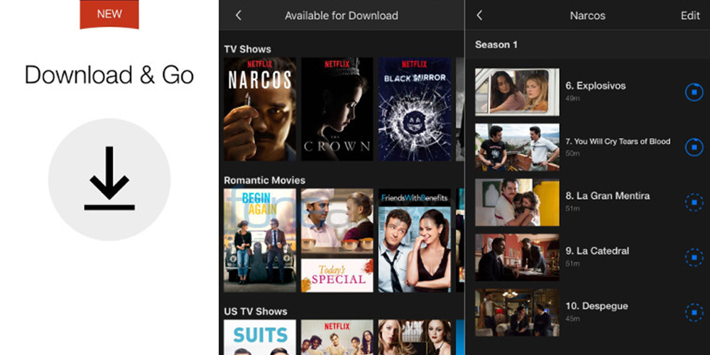 Netflix Offline for Android and iOS allows you to download its contents 1