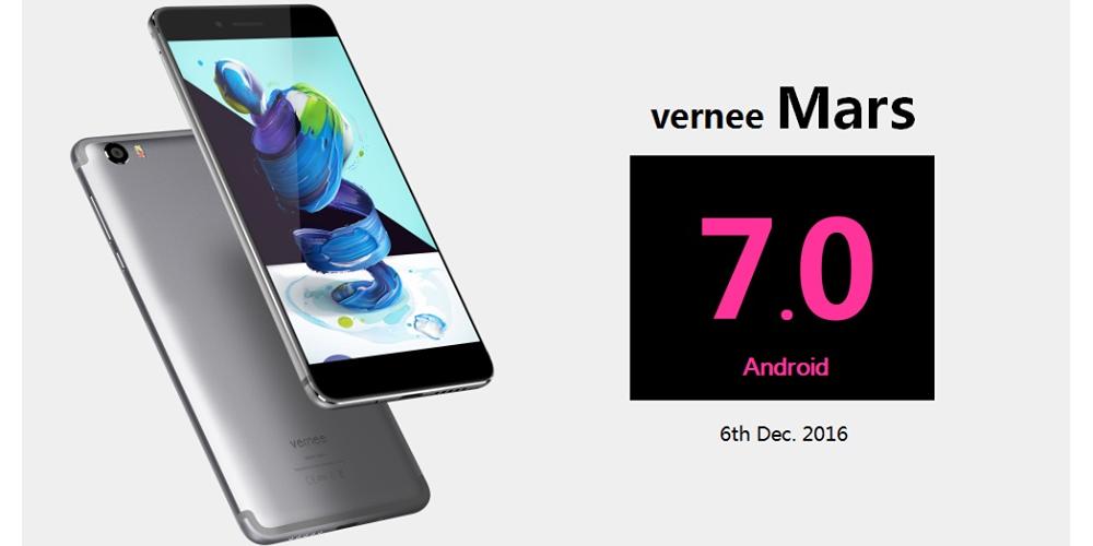 Vernee Mars pronto para ser atualizado a Android Nougat 1