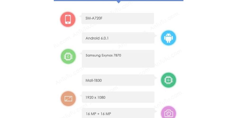 Galaxy Samsung A5 (2017) ya tiene fondos de pantalla y firmware 3