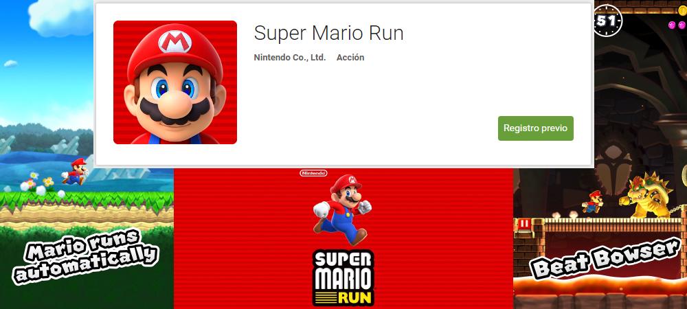 Super Mario Run oficial para Android en la Play Store desde hoy 1
