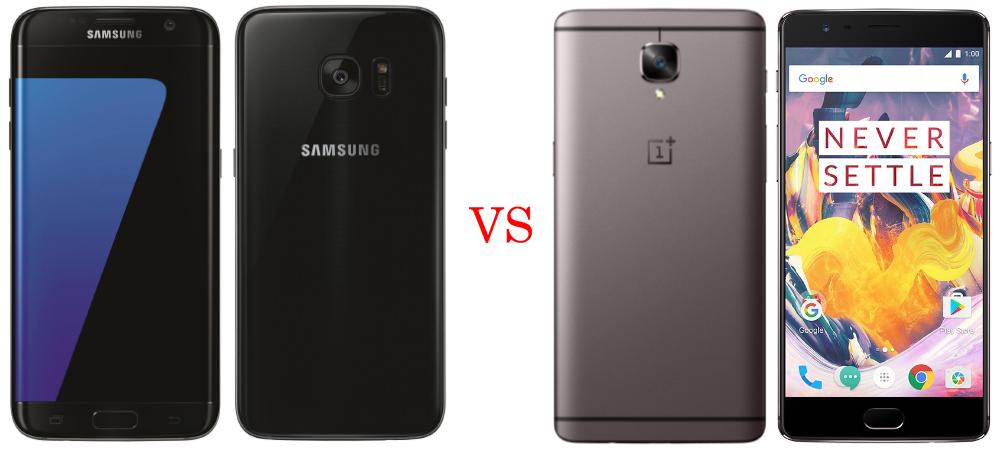 Samsung Galaxy S7 Edge versus OnePlus 3T 2