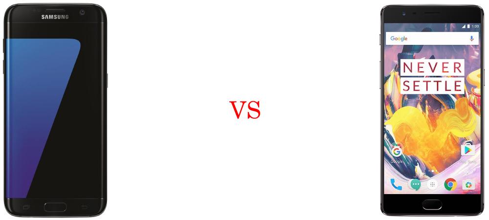 Samsung Galaxy S7 Edge versus OnePlus 3T 3