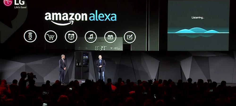 Amazon Alexa es parte del nuevo frigorifico de LG en el CES 2017 2