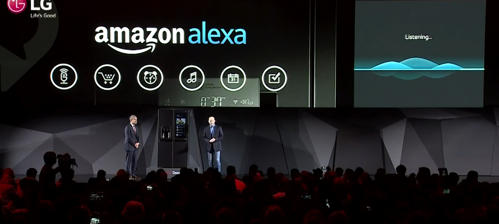 Amazon Alexa is part of the new LG smart fridge at CES 2017 2