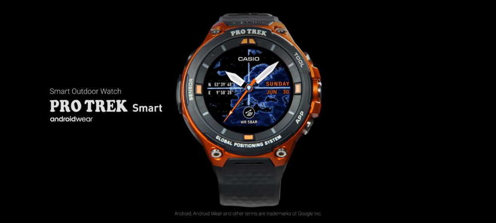 Casio announces the best SportWatch with GPS and Android Wear 2.0 1