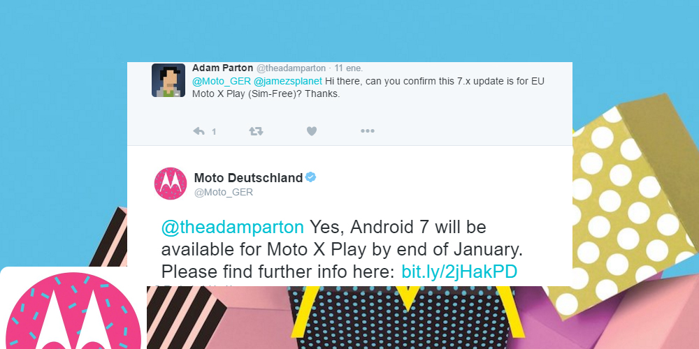Motorola Moto X Play will receive Android Nougat in January 1