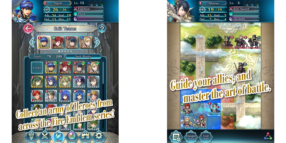 Nintendo announces Fire Emblem Heroes on Android and iOS 2