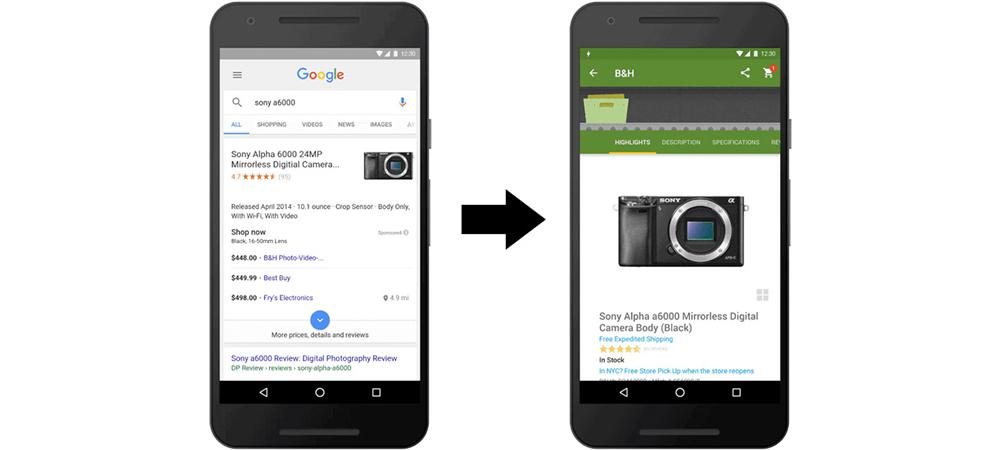 Google Instant App aterrissa em smartphones Android 1