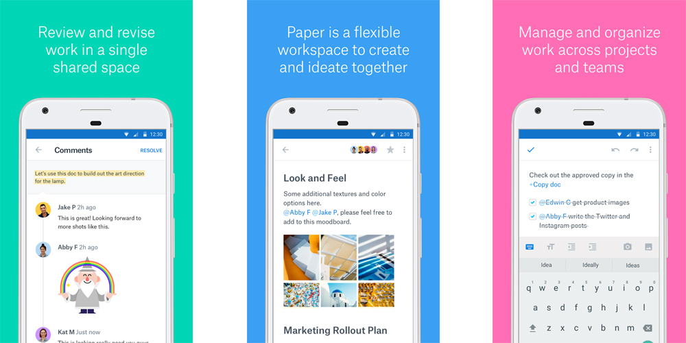 Dropbox Paper beta ja e um editor estavel para Android e iOS 1