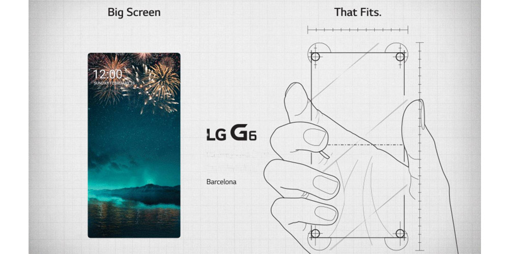 LG G6, Android smartphone with big screen for the MWC 1