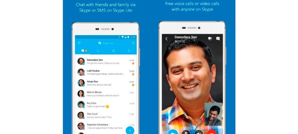 SkypeLite, app simplificada para la India 2