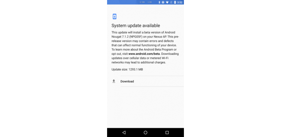Android 7.1.2 Nougat Beta available for Nexus 6P 1
