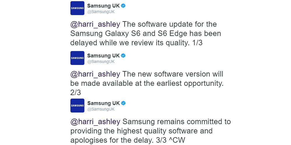 Samsung Galaxy S6 y S6 Edge preparados para Android Nougat 1