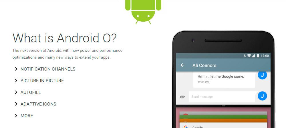 Google lanca Android O Developer Preview 1 surpreendentemente 2