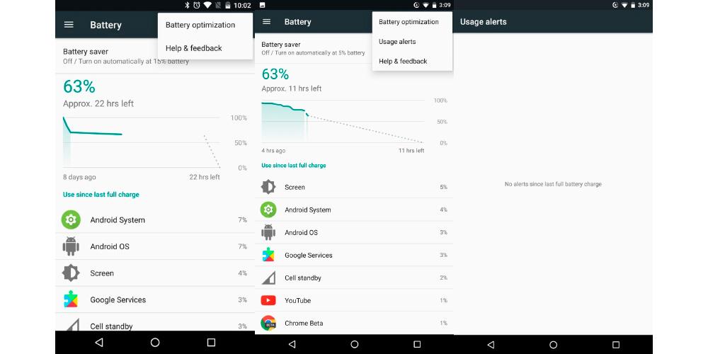 Android 7.1.2 integra nuevas alertas para mejorar la autonomia 1