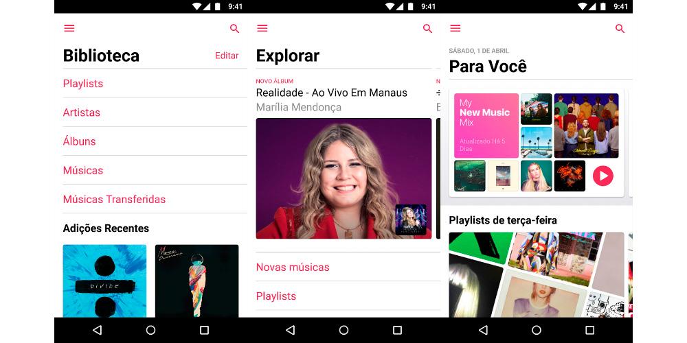 Apple Music 2.0 para Android: muda imagem e parece iOS 1