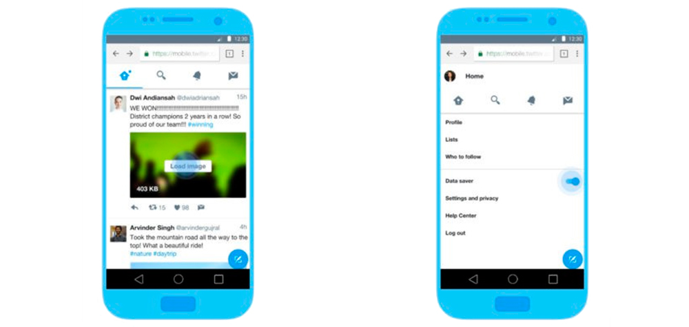 Twitter Lite por fin para Android en modo web app 1