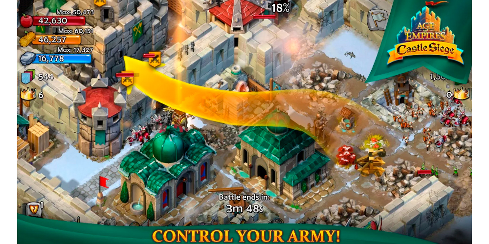 Age of Empires: Castle Siege available for download on Android 1