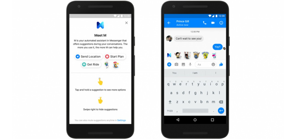 Facebook M Suggestions in Messenger: another personal assistant 1