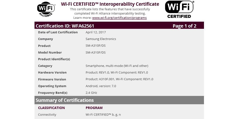Samsung Galaxy A3 2016 com Android 7.0 Nougat e certificado Wi-Fi 1