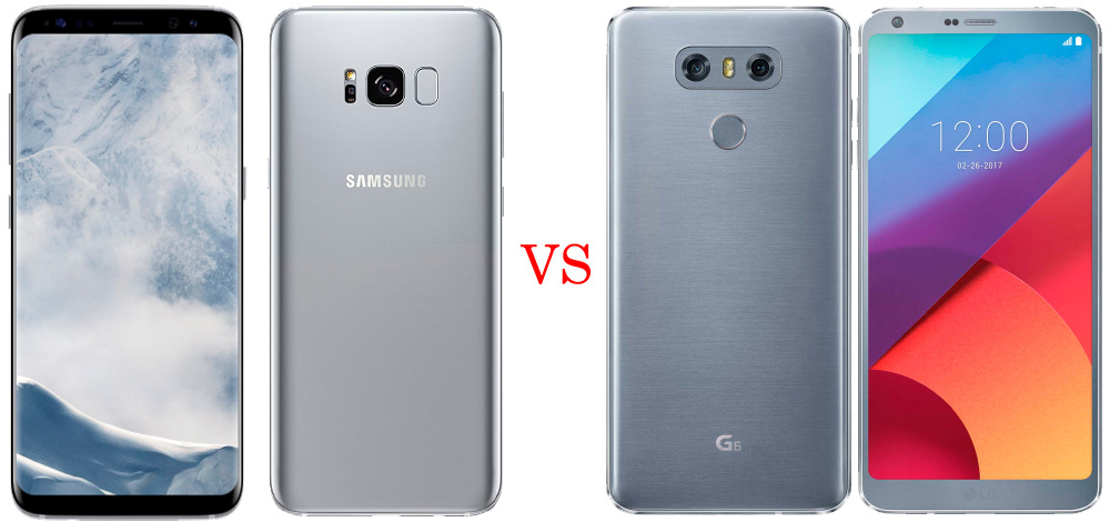 Samsung Galaxy S8 versus LG G6 1