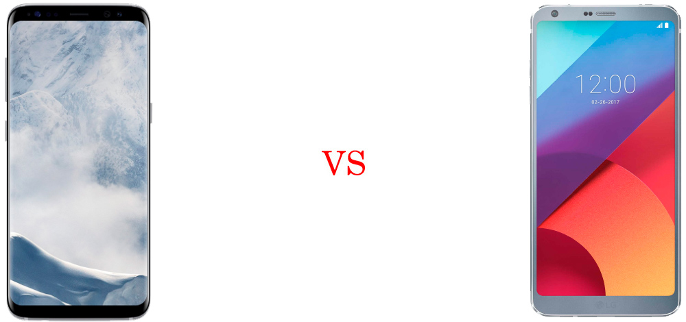 Samsung Galaxy S8 versus LG G6 2