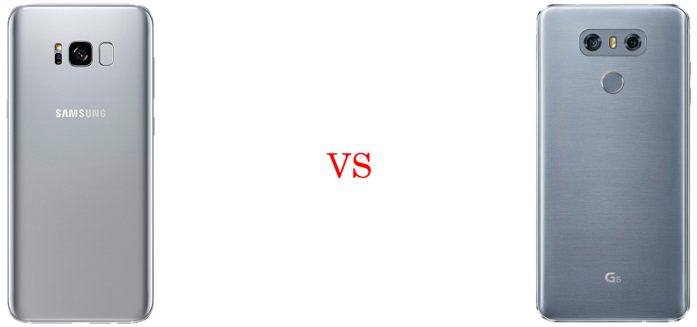 Samsung Galaxy S8 versus LG G6 3