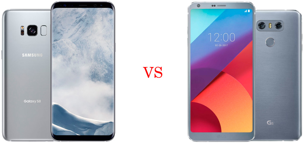 Samsung Galaxy S8 versus LG G6 5