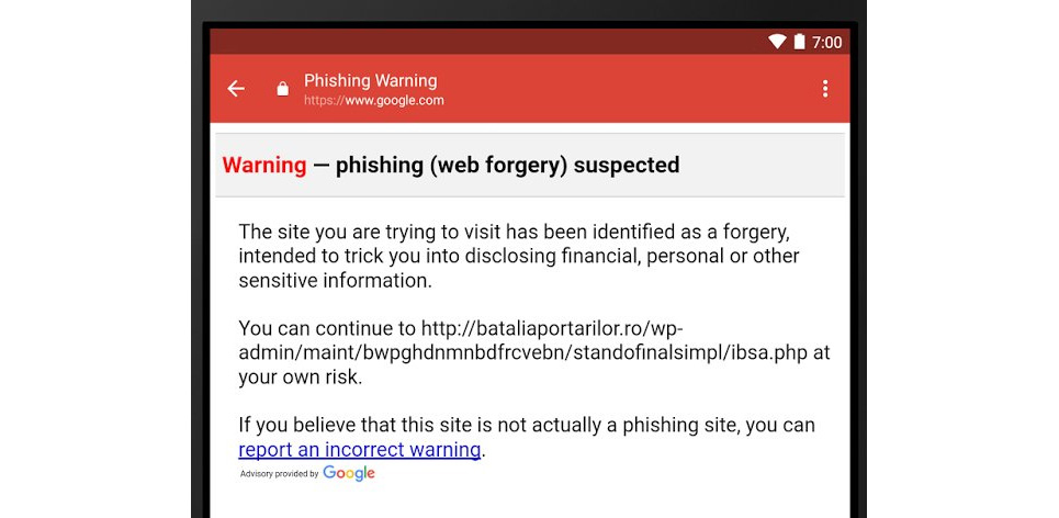 Gmail for Android updates and enables anti-phishing controls 1