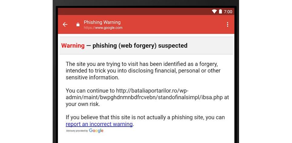 Gmail para Android atualiza-se e ativa os controles anti-phishing 1