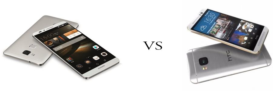 Huawei P8 versus HTC One M9 5