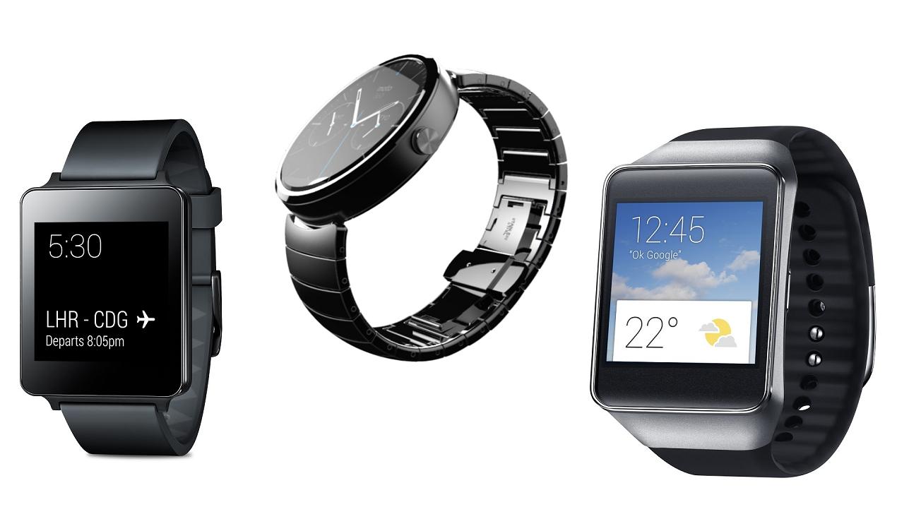 LG G Watch versus Samsung Gear Live versus Motorola Moto 360 4