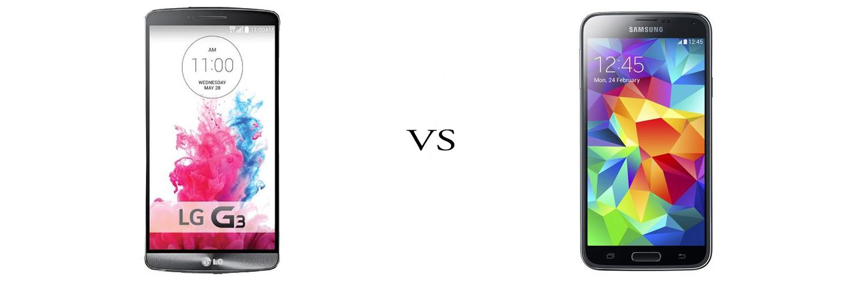 LG G3 versus Samsung Galaxy S5 5